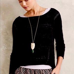 ANTHROPOLOGIE Long sleeve black sweater